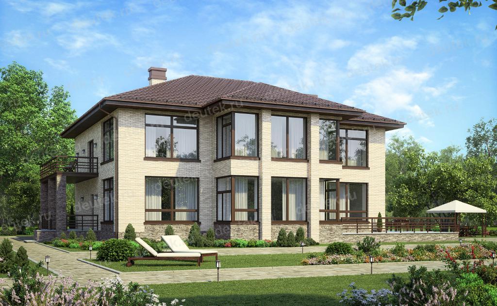 Проекты домов и коттеджей с большими окнами