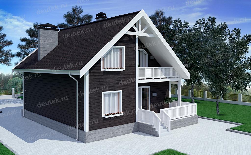 Дом 11 на 11 одноэтажный проект террасой