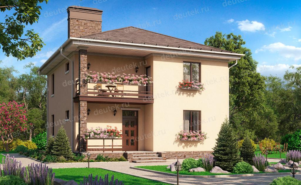 Купить проект простого двухэтажного дома 9 на 10 из газобето.